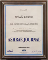 ASHRAE Journal - Outstanding Advertising - September 2011