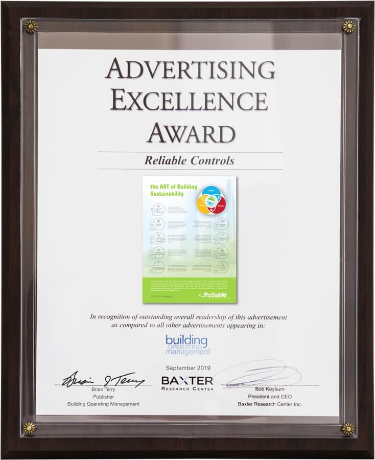 Advertising Excellence Award - September 2019